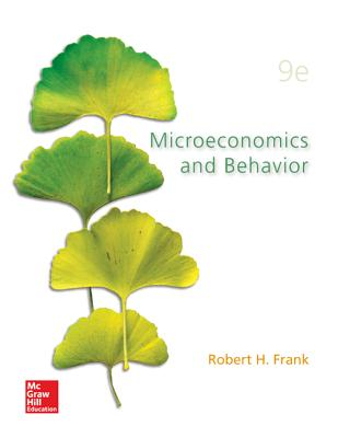 Microeconomics and Behavior By Frank, Robert